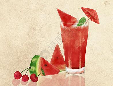 冰爽西瓜饮品图片
