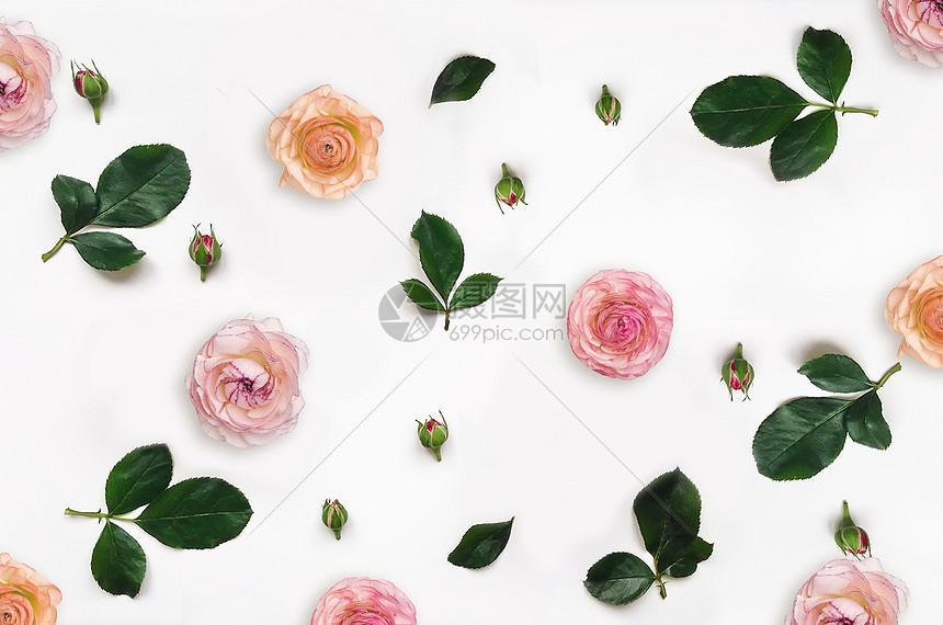 花朵平铺背景图片