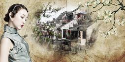 水墨古风背景图片