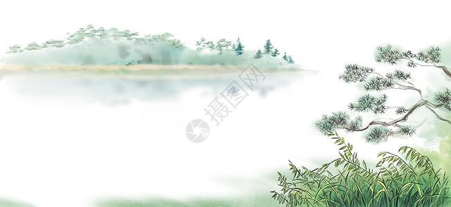 古风山水背景图片