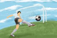 世界杯足球插画图片