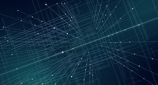 空间感线条科技背景图片