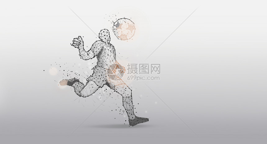 踢足球运动员背景图片
