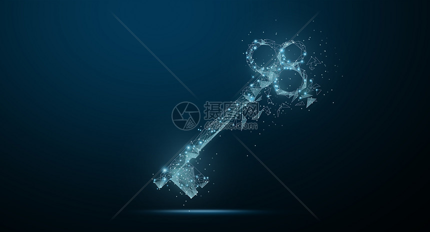 科技钥匙背景图片