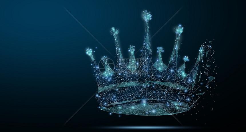 抽象皇冠背景图片