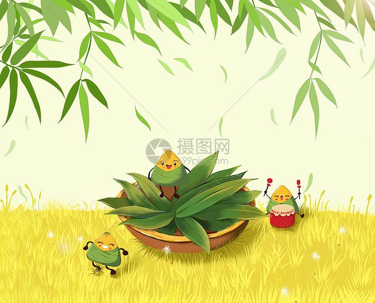 卡通粽子端午节图片