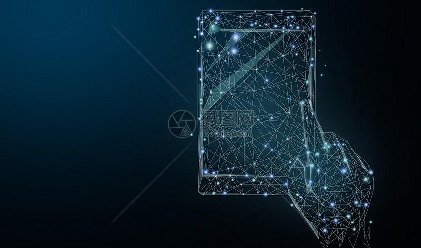科技智能手机背景图片
