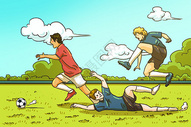 世界杯插画图片