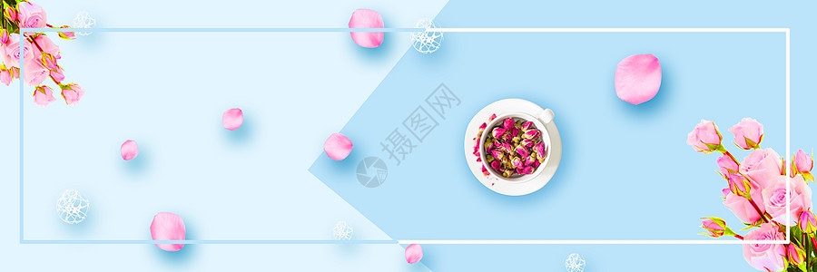 美容花茶背景图片