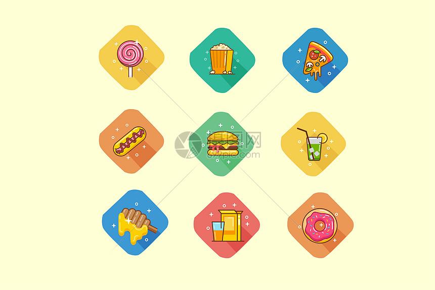 旅行美食类图标图片