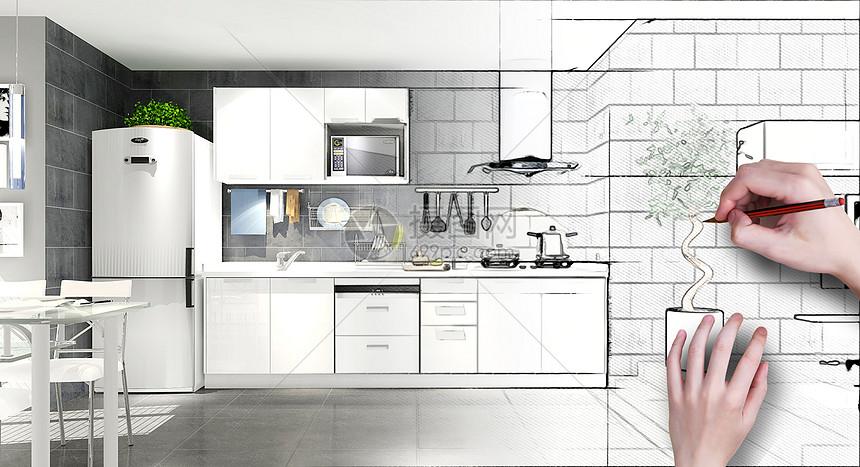 简约厨房装修效果图图片