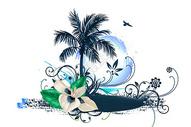 热带风景插画400206131图片