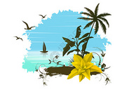 热带风景插画400206187图片