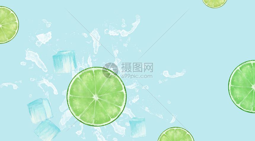 清新冰爽背景图片