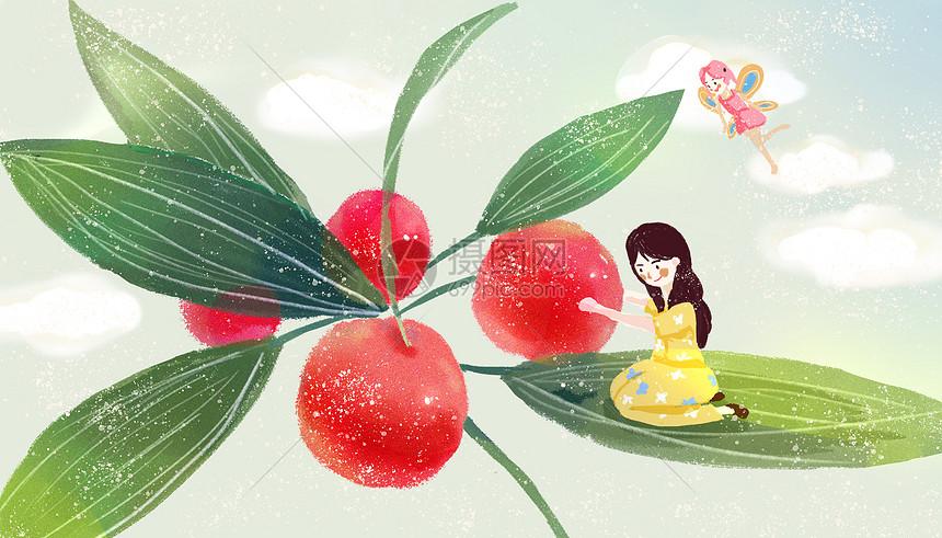 樱桃女孩图片