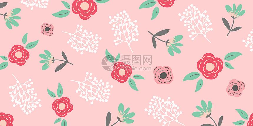 粉红花卉背景图片