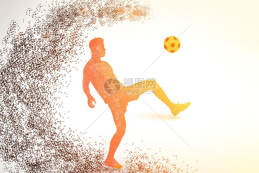足球运动剪影图图片