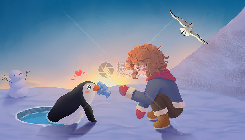 女孩的极地之旅图片