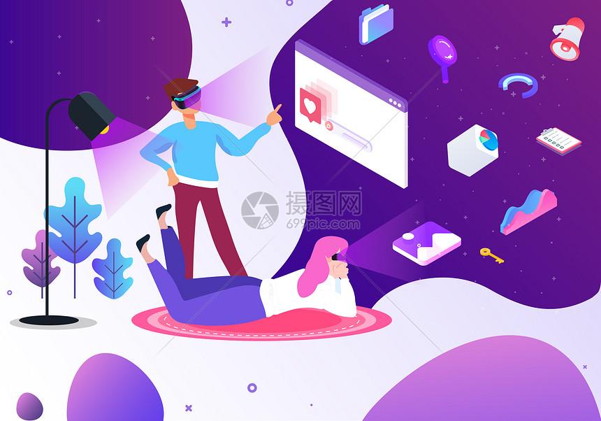 VR眼镜科技办公图片