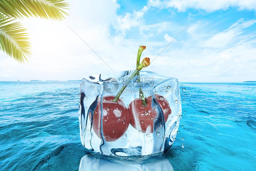 夏天海边酷爽背景图片