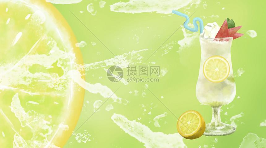冰爽一夏水果果汁图片