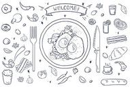 食物手绘图片