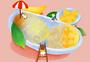 夏日芒果泳池玩耍图片