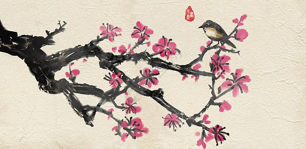 中国风水墨梅花图片