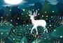 夏日森林麋鹿图片