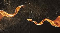 黑金彩带背景图片