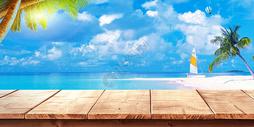夏日清凉背景图片