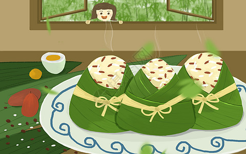 端午吃粽子图片