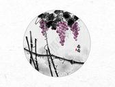 葡萄中国风水墨画图片