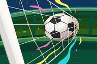 足球进球场景图片