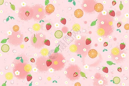 小清新水果汽水图片