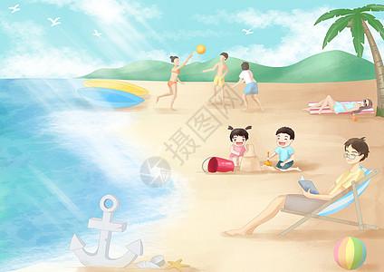 海边休闲度假图片