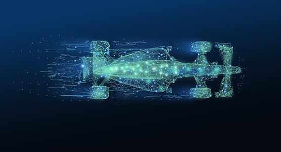 赛车线条科技背景图片