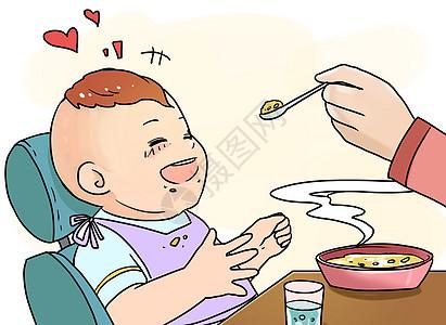 宝宝喂食图片
