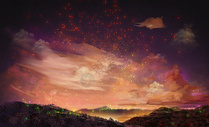 浪漫夏夜星空图片