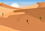 沙漠行走之旅图片
