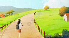 乡间小路图片