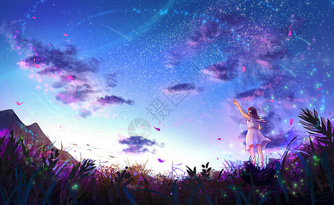 繁星夏夜图片