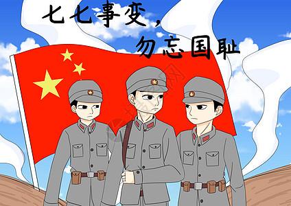 七七事变勿忘国耻图片