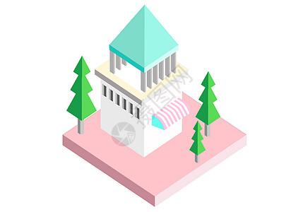 漂亮小房子插画图片