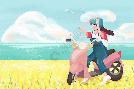骑摩托车去旅行图片