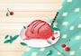 夏日樱桃冰激凌图片
