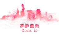 罗萨里奥水彩手绘插画图片
