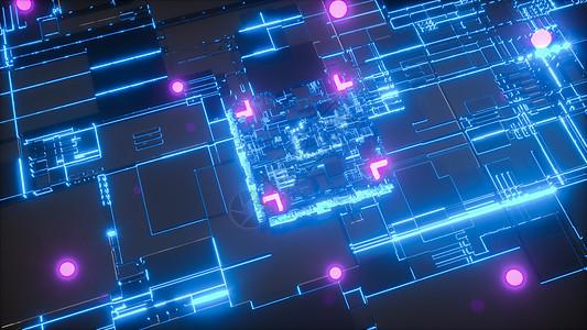未来科技芯片概念图图片