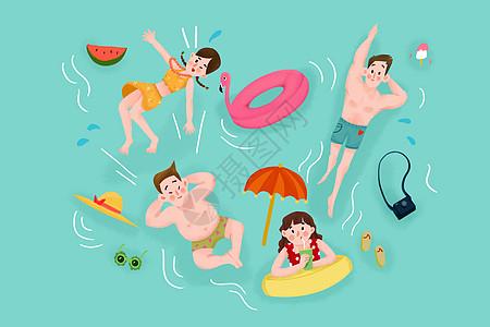 夏日游泳图片