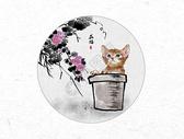 花猫中国风水墨画图片